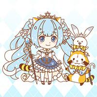 画像 「雪ミク×ラスカル」コラボグッズ発売!