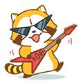 画像 LINE ラスカルスタンプ第6弾「ROCK♪ラスカル」配信開始!