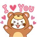 画像 LINE ラスカルスタンプ第7弾「ANIMAL☆ラスカル」配信開始!