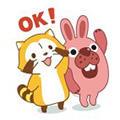 画像 「LINE ポコポコ」が『あらいぐまラスカル』とコラボ!
