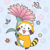 画像 新作LINE着せかえ「ラスカル☆スプリングフラワー」配信!