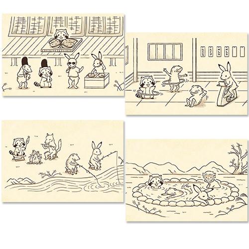 【鳥獣戯画2019】ポストカード(4種) 商品画像