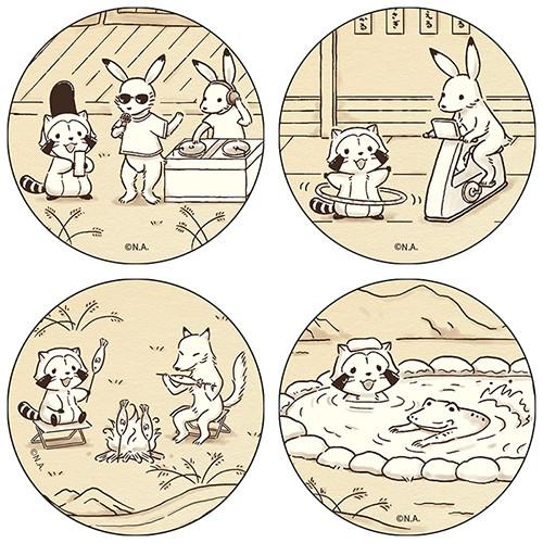 【鳥獣戯画2019】和紙風缶バッジ(4種) 商品画像