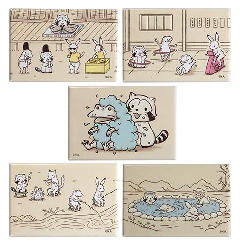 【鳥獣戯画2019】スクエアマグネット(5種) 商品画像