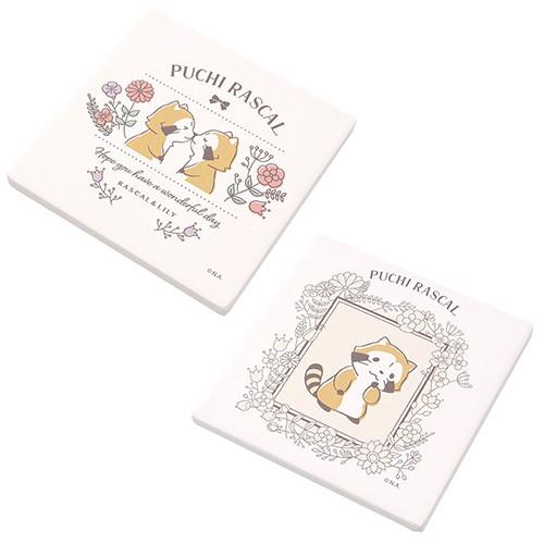 【ボタニカルデザイン】白雲石コースター(2種) 商品画像