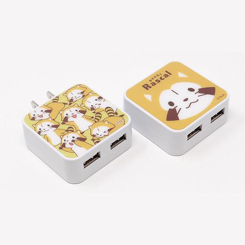 USB2ポートACアダプタ(2種) 商品画像